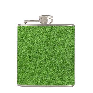 Textura hermosa de la hierba verde del campo de go petaca