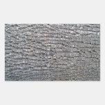 Textura horizontal de la corteza de árbol rectangular pegatina