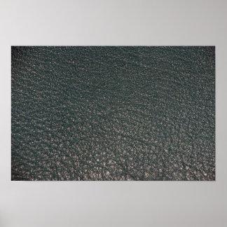 Textura ilustrativa del cuero de la aguamarina impresiones