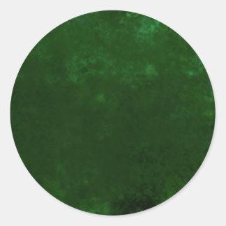 Textura impresa verde etiquetas redondas