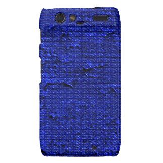 textura impresionante, azul droid RAZR carcasas