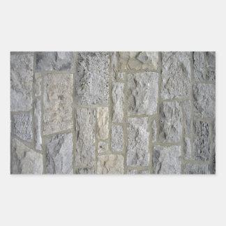 Textura inconsútil de la pared de piedra vieja pegatina rectangular