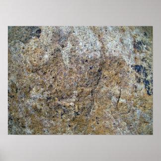Textura inconsútil de la roca posters