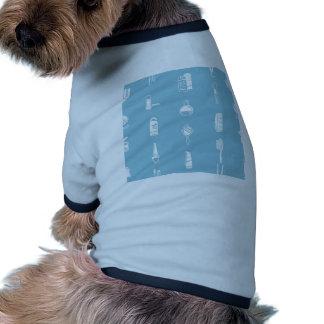 Textura inconsútil del fondo de los cosméticos camisetas de perrito