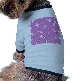 Textura inconsútil del fondo de los cosméticos camisa de perrito