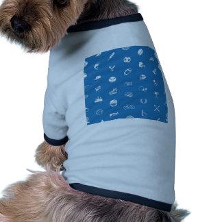 Textura inconsútil del fondo del deporte camisetas de perrito