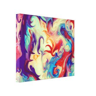 Textura líquida abstracta de la pintura impresiones en lienzo estiradas