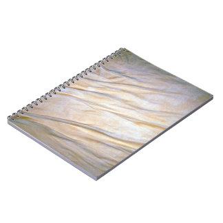Textura llana de la tela cuaderno