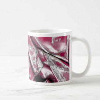 Textura machacada del coche taza de café