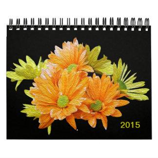 Textura magnífica de las flores del verano que calendarios de pared