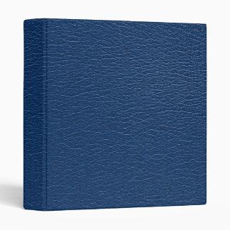 """Textura magnífica del cuero de los azules marinos carpeta 1"""""""