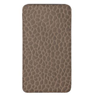 Textura magnífica del cuero del moreno de Brown Funda Acolchada Para Galaxy S5