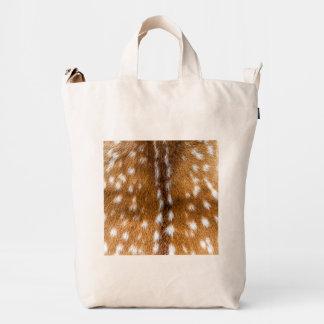 Textura manchada de la piel de los ciervos bolsa de lona duck