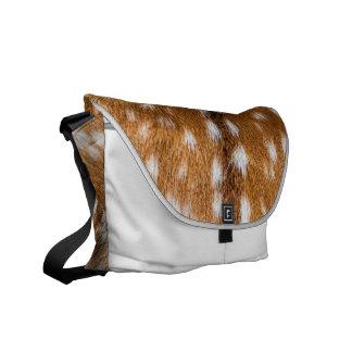 Textura manchada de la piel de los ciervos bolsas messenger