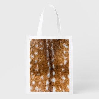 Textura manchada de la piel de los ciervos bolsas reutilizables