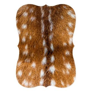 """Textura manchada de la piel de los ciervos invitación 5"""" x 7"""""""