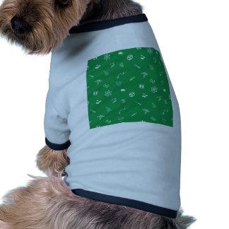 Textura médica y de la ciencia inconsútil del fond camisetas de perrito