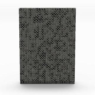 Textura medieval de plata hecha andrajos de la