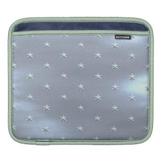 Textura metálica cepillada brillante de la funda para iPads