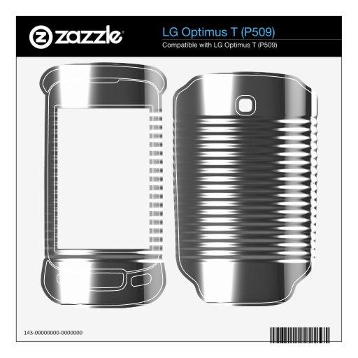 ¡textura metálica de la era espacial futurista de  calcomanía para LG optimus t