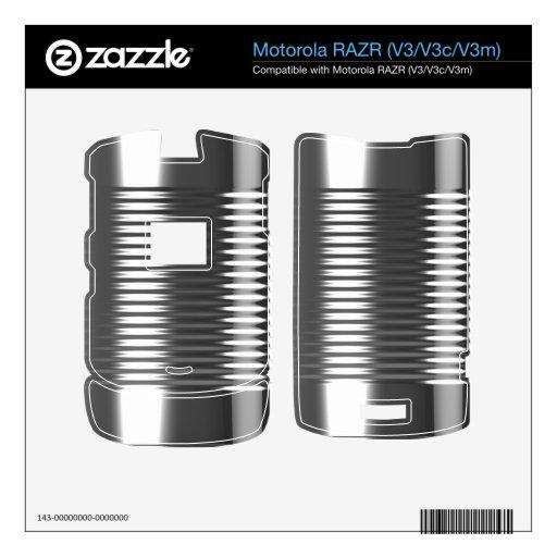 ¡textura metálica de la era espacial futurista de  motorola RAZR calcomanía