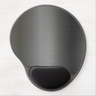 Textura metálica de plata realista alfombrilla con gel