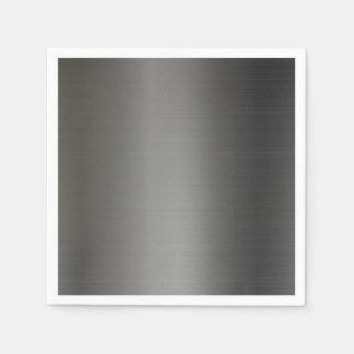 Textura metálica de plata realista servilleta de papel