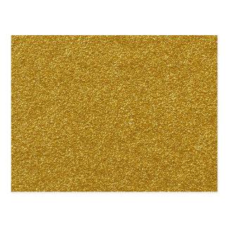 Textura metálica del brillo del oro tarjeta postal