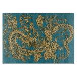 textura metálica del cuero de los dragones 3D Tablas De Cortar