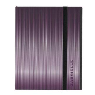 Textura metálica púrpura de la fibra de carbono iPad carcasas