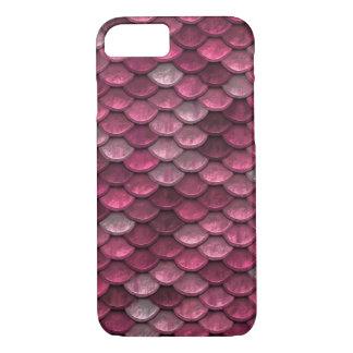 Textura metálica rosada de las escalas funda iPhone 7