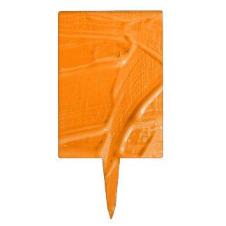 textura mojada del color, naranja decoraciones para tartas