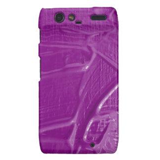 textura mojada del color, púrpura motorola droid RAZR carcasas