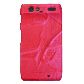 textura mojada del color, rosa fuerte motorola droid RAZR funda