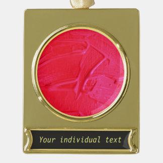 textura mojada del color, rosa fuerte rótulos de adorno dorado