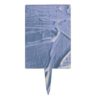 textura mojada del color, suavemente azul decoración de tarta