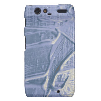 textura mojada del color, suavemente azul droid RAZR funda