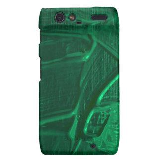 textura mojada del color, verde motorola droid RAZR carcasas