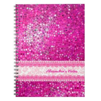 Textura-Monograma 2 del brillo de los tonos de las Libretas Espirales