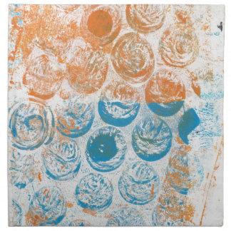 Textura Monoprint del plástico de burbujas Servilletas