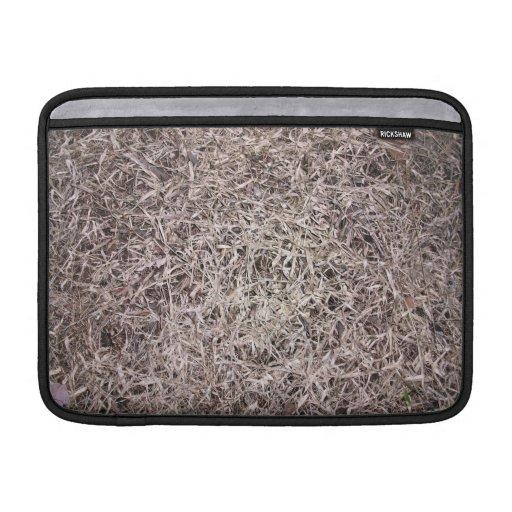 Textura muerta de la hierba de Brown Fundas Para Macbook Air