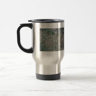 Textura muerta de la hierba tazas de café
