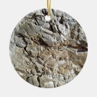 Textura natural de piedra rocosa de la montaña adorno redondo de cerámica