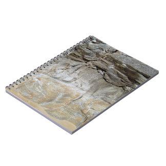 Textura natural de piedra rocosa de la montaña note book