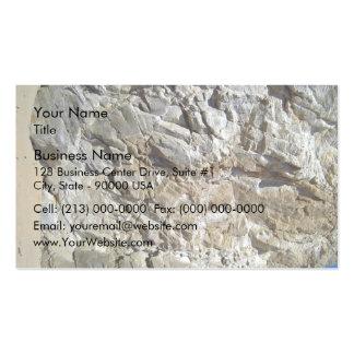 Textura natural de piedra rocosa de la montaña tarjetas de visita