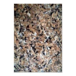 """Textura negra blanca de la piedra del granito de invitación 3.5"""" x 5"""""""