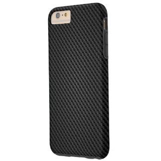 Textura negra de la fibra sintética de Kevlar Funda De iPhone 6 Plus Tough