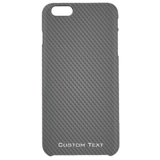 Textura negra de la fibra sintética de Kevlar Funda Clearly™ Deflector Para iPhone 6 Plus De Unc