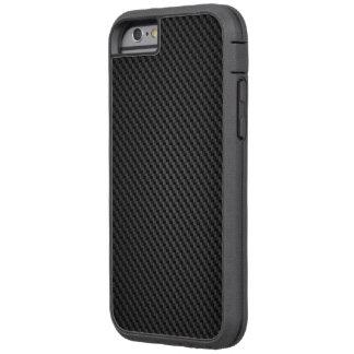 Textura negra de la fibra sintética de Kevlar Funda De iPhone 6 Tough Xtreme