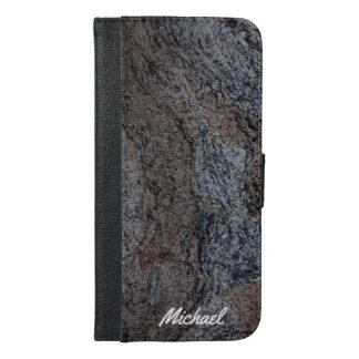 Textura negra roja de piedra del granito